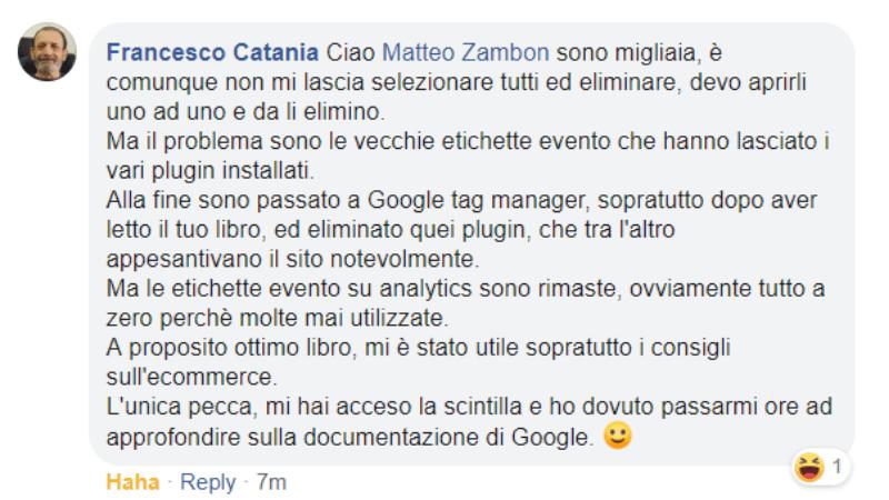 Francesco Catania Testimonianza Google Tag Manager per chi inizia