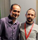Avihash Kaushik con Matteo Zambon