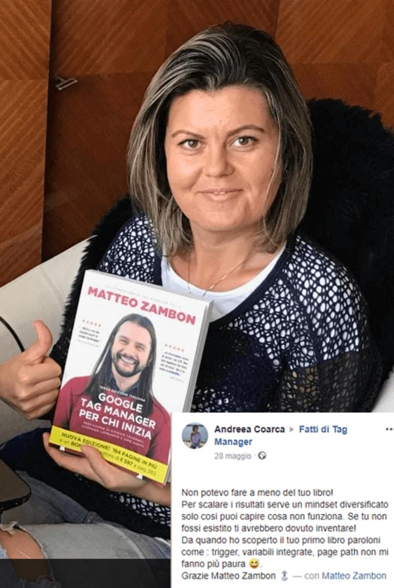Andreaa Coarca Testimonianza Google Tag Manager per chi inizia