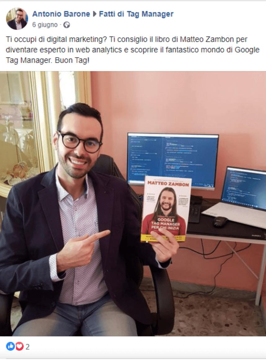 Antonio Barone Testimonianza Google Tag Manager per chi inizia